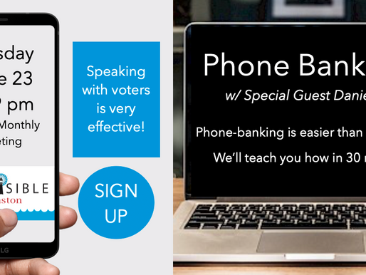 Register for our June 23 Monthly Meeting: Phone Banking 101