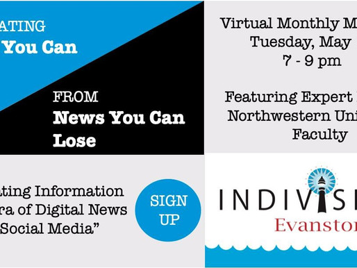 Join our May Virtual Meeting: News You Can Use Vs. News You Can Lose...