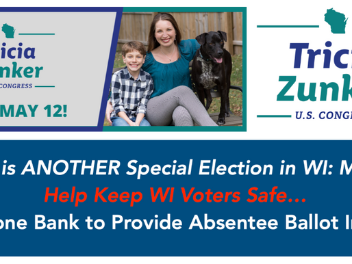 Help Tricia Zunker for Congress Win in Wisconsin on May 12th!
