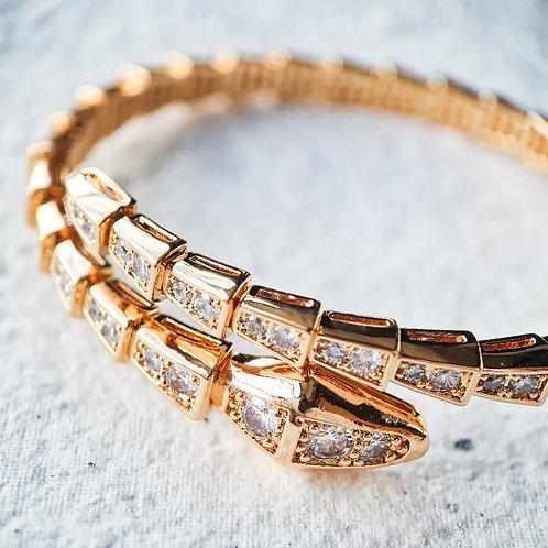 Bracelete Serpente Estilizada