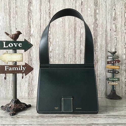 셀린느 CELINE Small Tab bag (스몰 탭 백)딥그린카프스킨