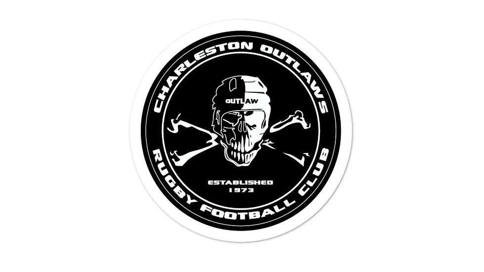 Outlaws Skull Logo Stickers