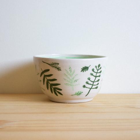 Green Fern Bowl