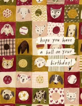 Birthday Card - Have a Ball
