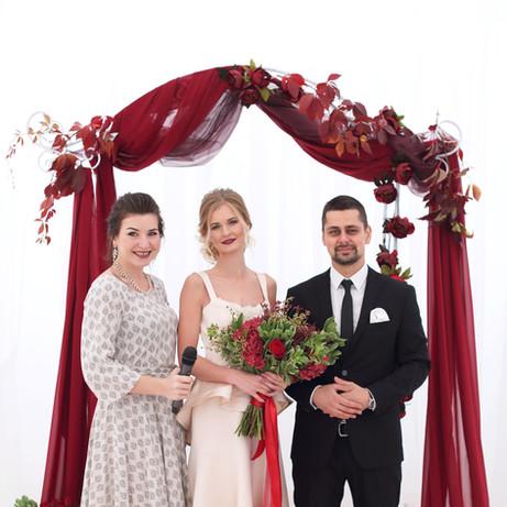Камерная свадьба в стиле Марсала