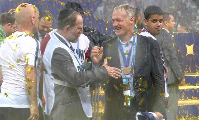 Haredi Sports Medicine Professor Dr. Ephraim Kramer Congratulates France National Soccer Team Head Coach Didier Deschamps on the 2018 World Cup Victory