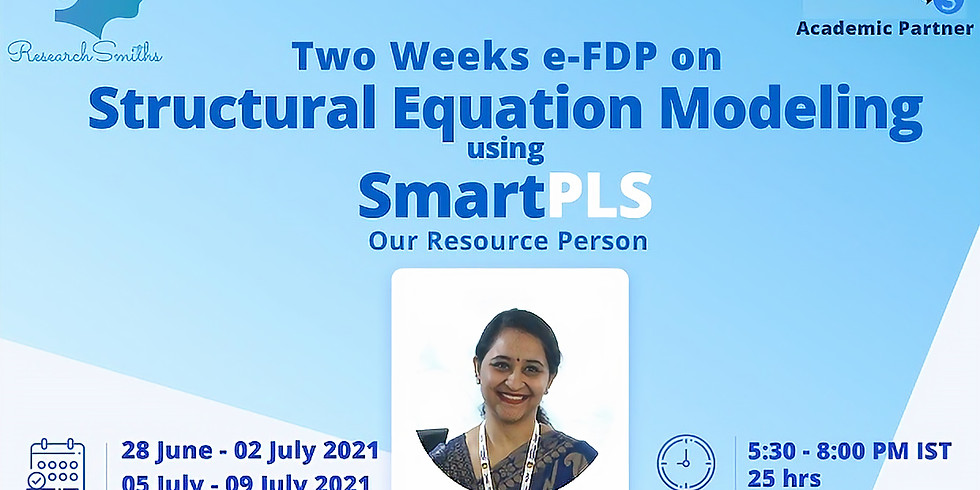 Two Weeks FDP on Structural Equation Modeling using SmartPLS