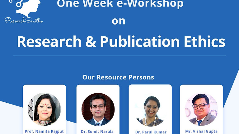 One Week e-Workshop on Research & Publication Ethics