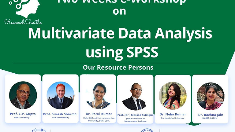 Two Weeks e-Workshop on Multivariate Data Analysis using SPSS