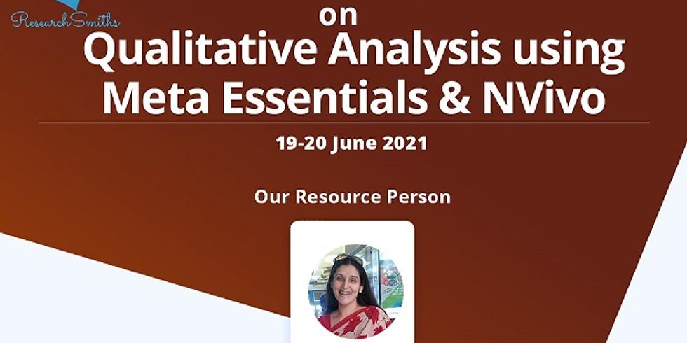 Qualitative Analysis using Meta Essentials & NVivo