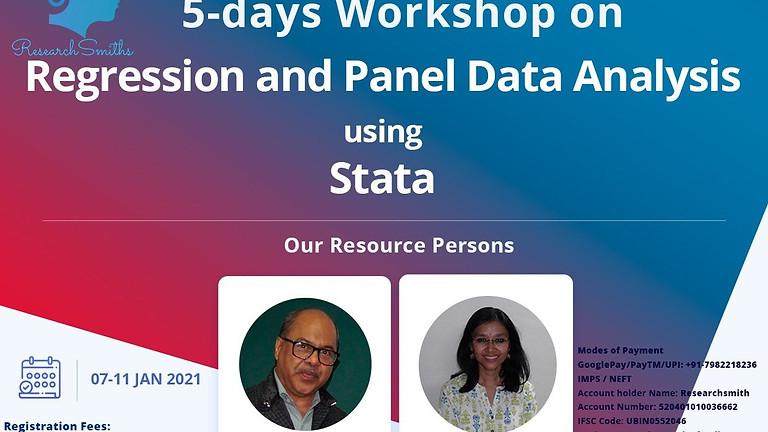 Regression and Panel Data Analysis using Stata