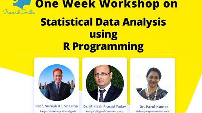 Statistical Data Analysis using R programming
