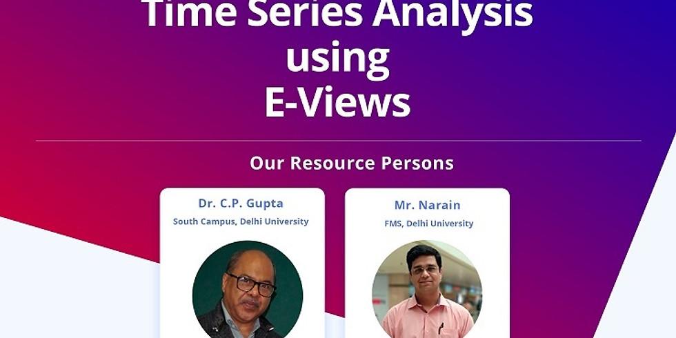 Time Series Analysis using EViews