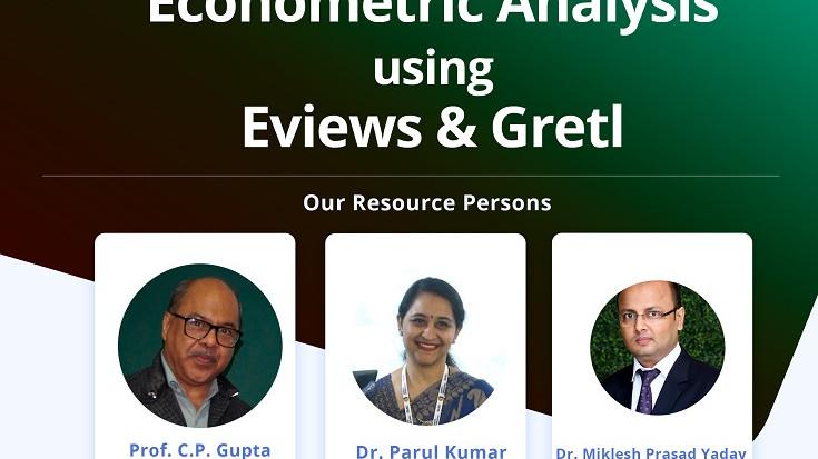 Econometric Analysis using Eviews & Gretl