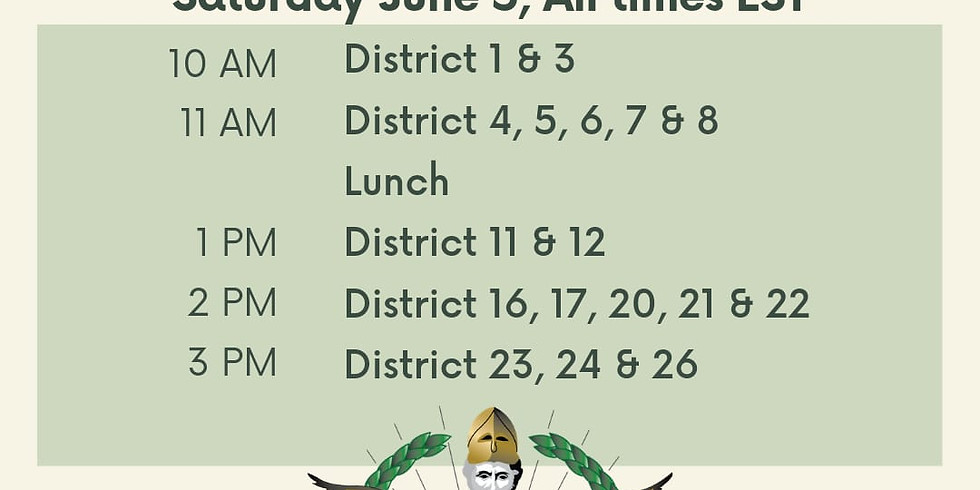 Districts 16, 17, 20, 21, & 22