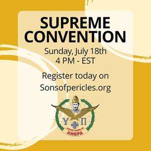 Registration Open for SOP Virtual Supreme Convention