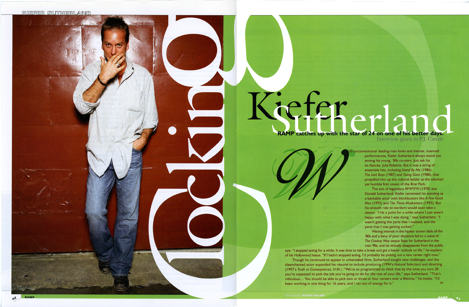 Kiefer Sutherland edit design
