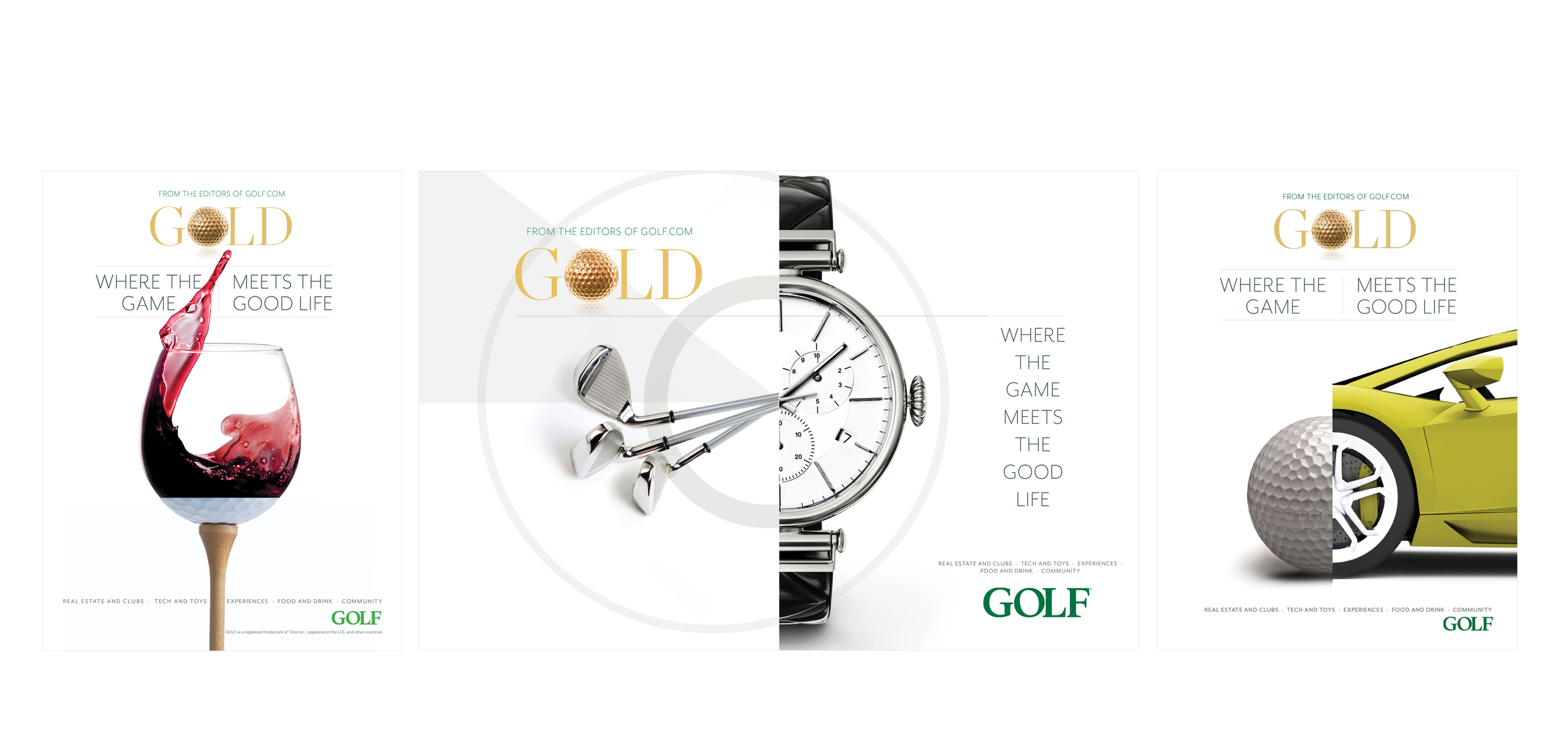 Golf Gold branding campaign