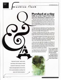 W magazine redesign mock