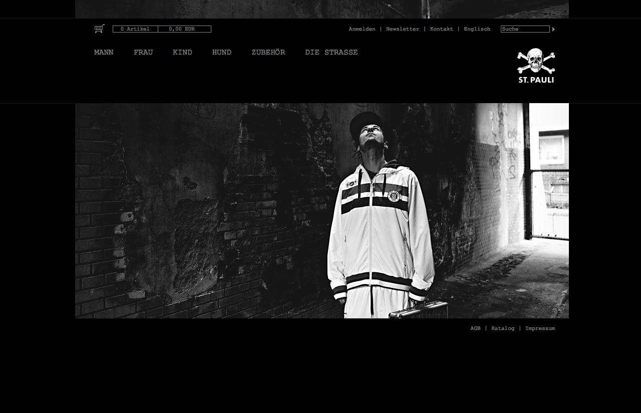 Homepage Web-Shop