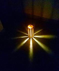 LUMINÁRIA DE BAMBÚ E LED