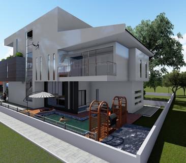 Front View Villa