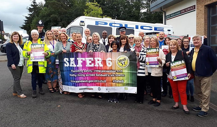 Sandwell Mayor pictured with representatives from this years safer6