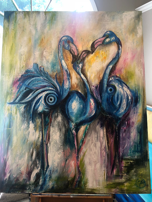 Blue Flamingos