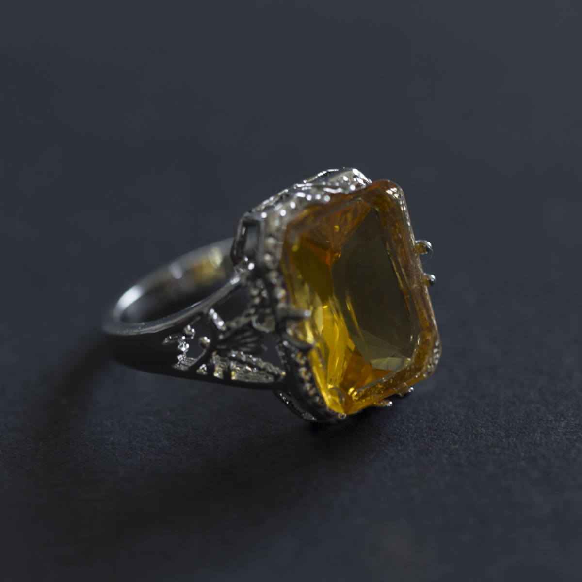 Vintage Women 925 Sliver Ring Natural Ci