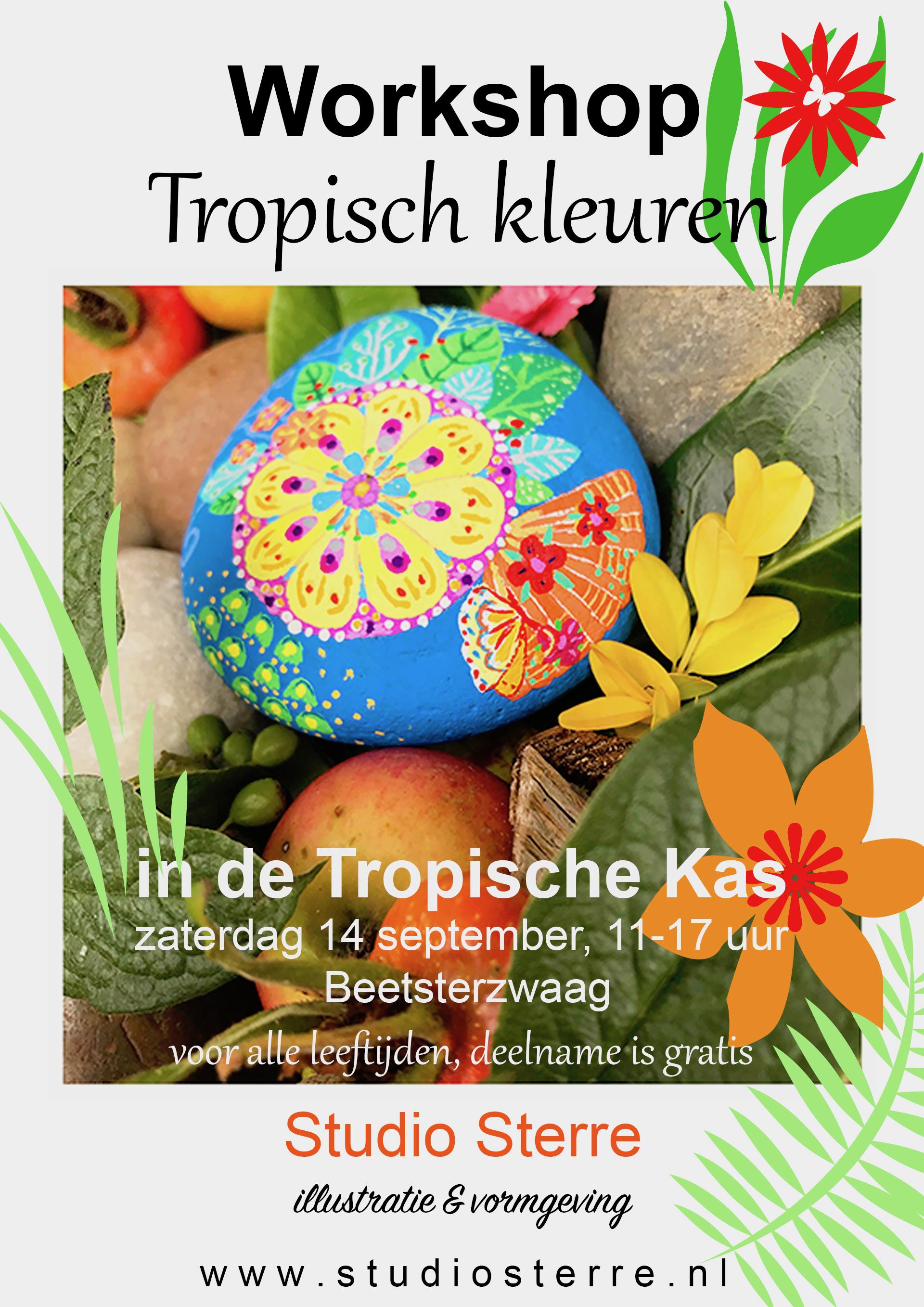 poster workshop Tropisch Kleuren