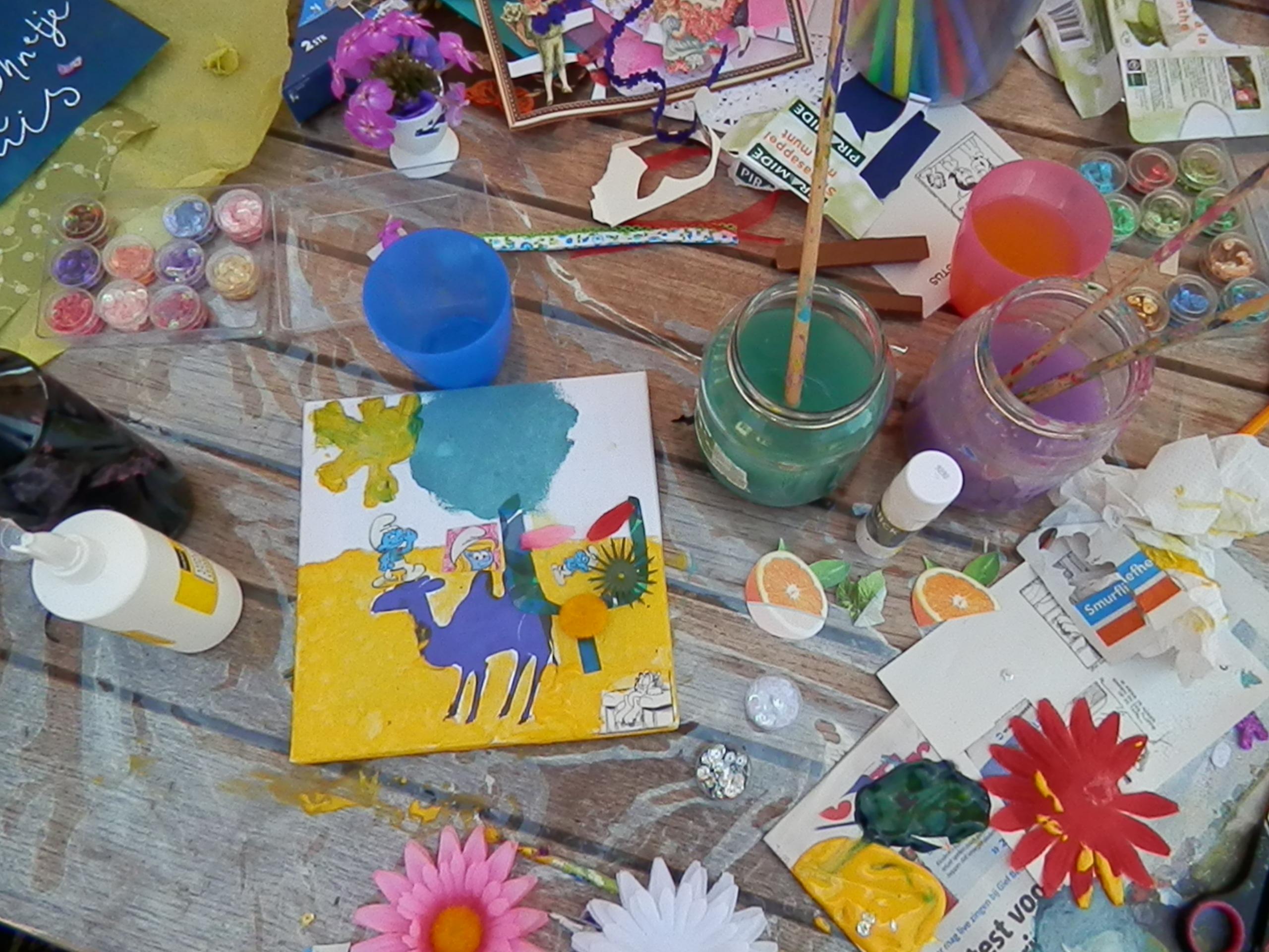 Workshop thema Kleur.
