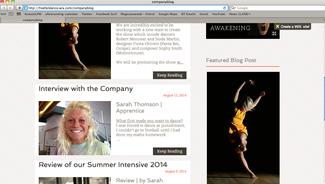 Freefall Dance Apprentice Update - http://freefalldance.wix.com/companyblog