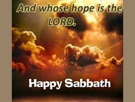 Praise The Most High Yahuah for another Sabbath!