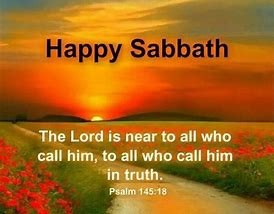 HAVE A BLESSED SABBATH!