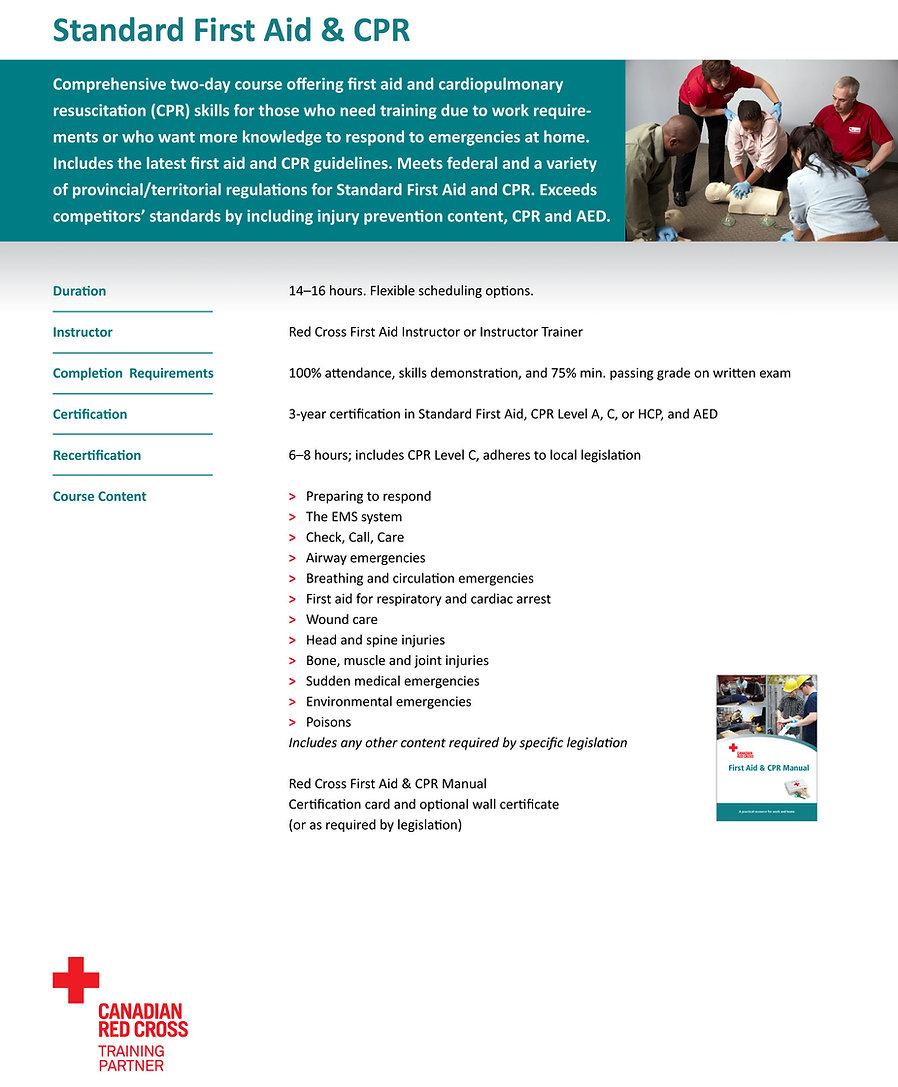 Standard first Aid & CPR