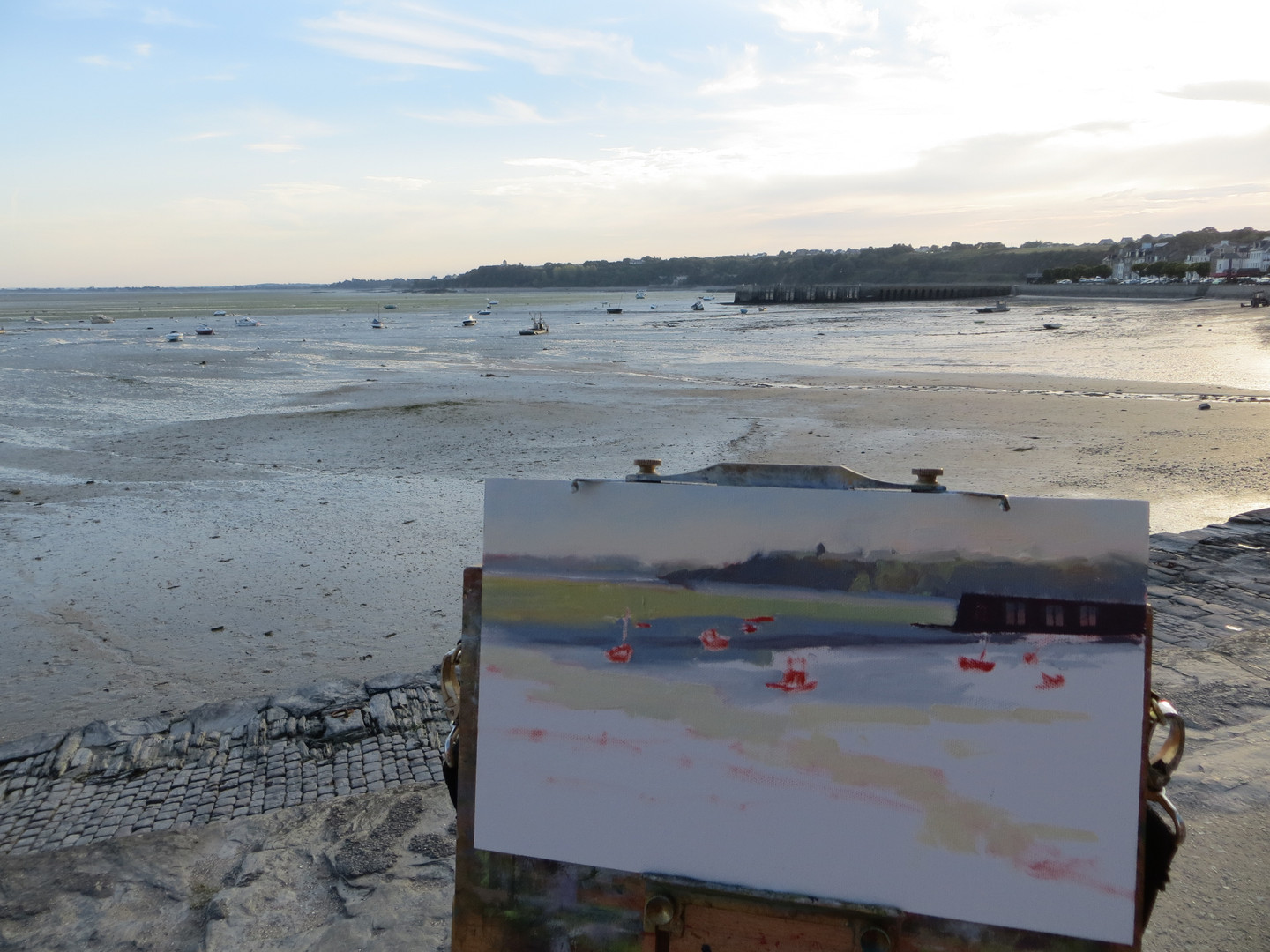 Painting in Cancale, France