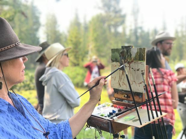 Jan Jewell painting Jeremy Lipking