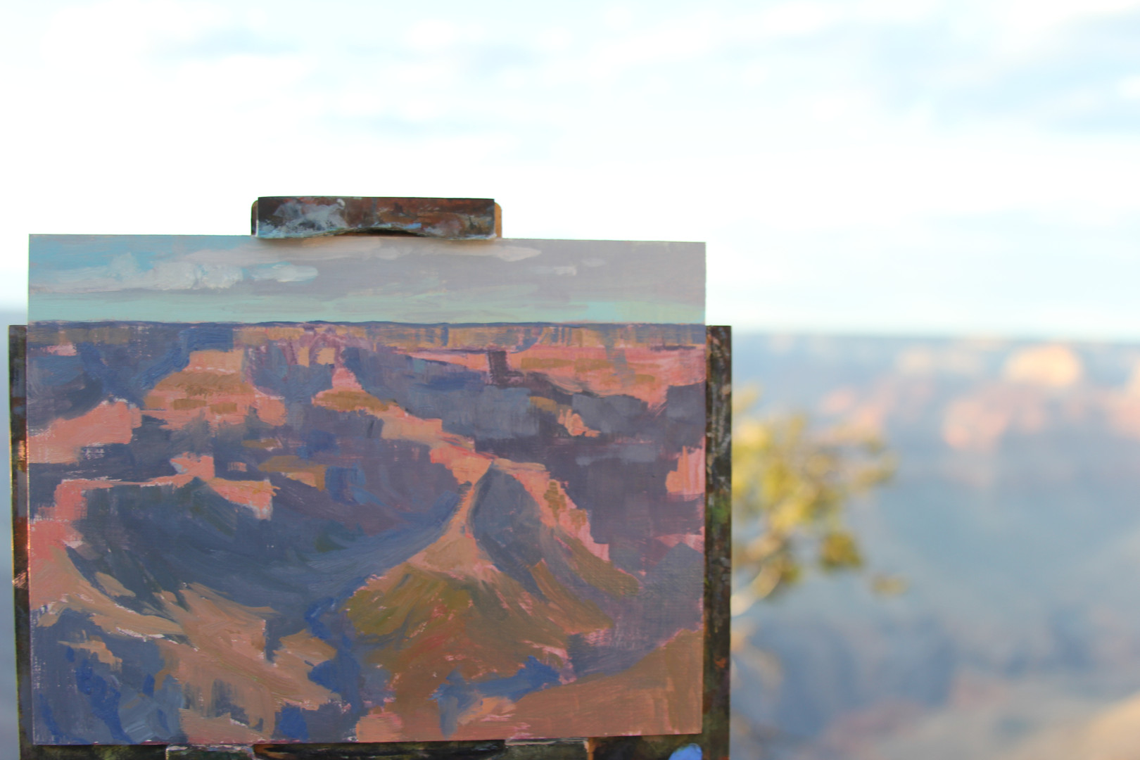 Jan Jewell painting at Grand Canyon