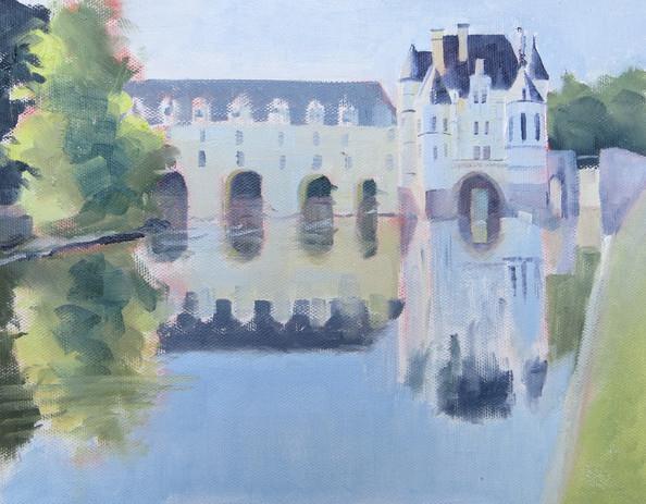 Le Chateau dè Chenonceau et Son Reflet,