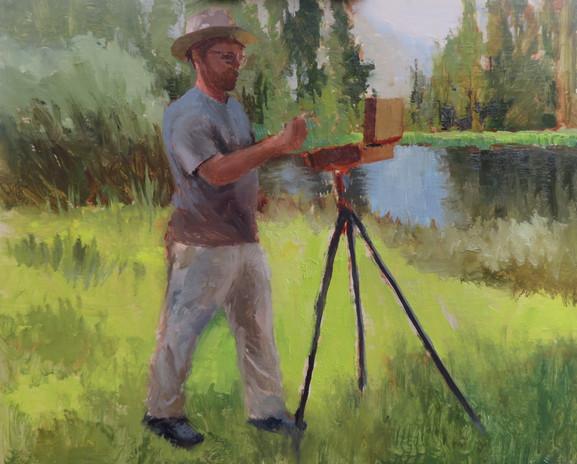 Jan Jewell painting Jeremy Lipking paint