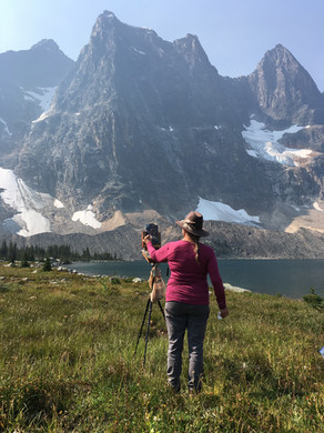 Jan Jewell painting in the Tonquin Valle