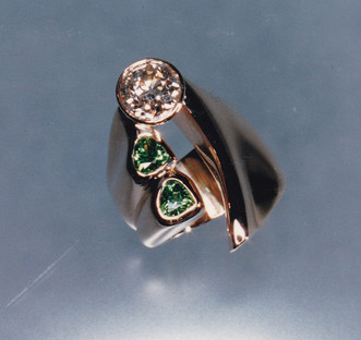 Diamond and Tsavorite Garnet Ring