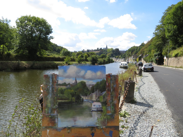 Painting at the Port of Dinan