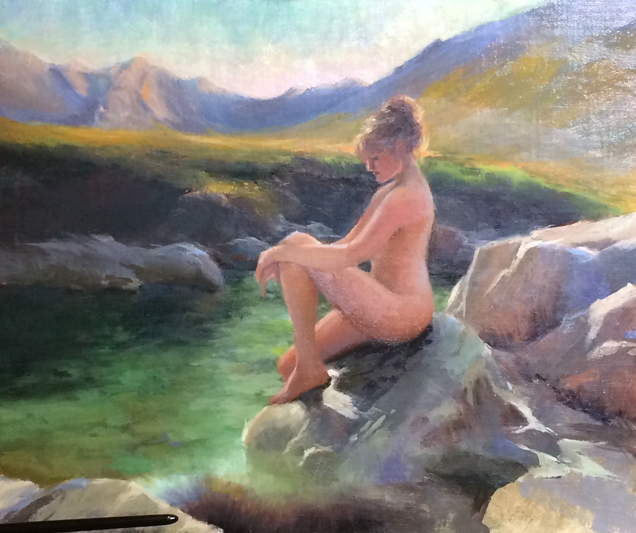 Nude at the Fairy Pools