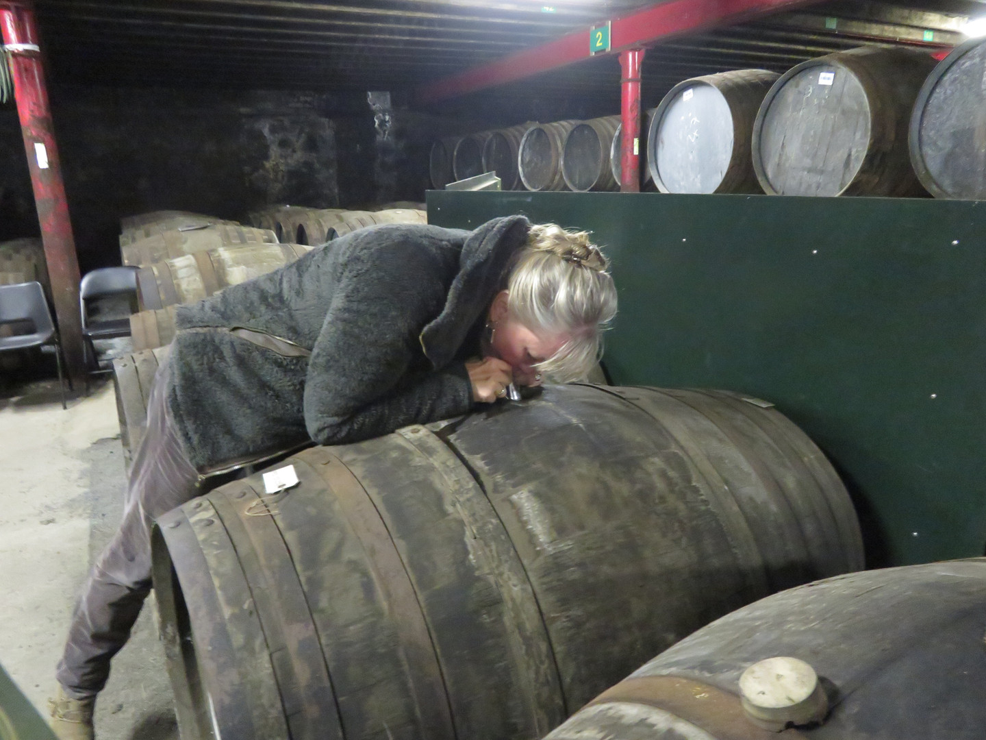 Drawing Whiskey out of a Barrel