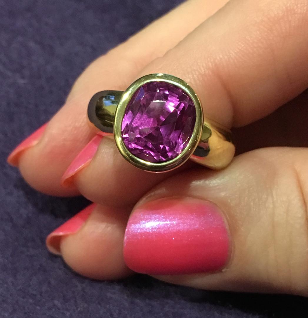 Pink ~ Purple Sapphire Ring