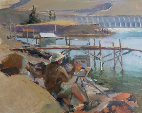 Thomas Kitts Painting Fishing Platforms