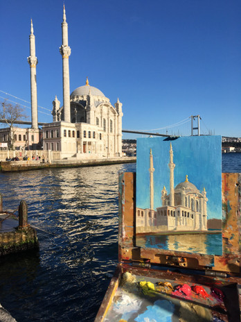 Painting the Ortakoy Mosque
