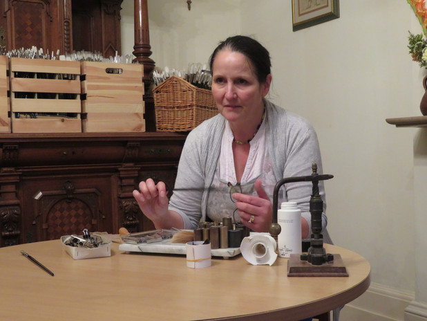 Rosemary Demonstrating How to Make a Pai