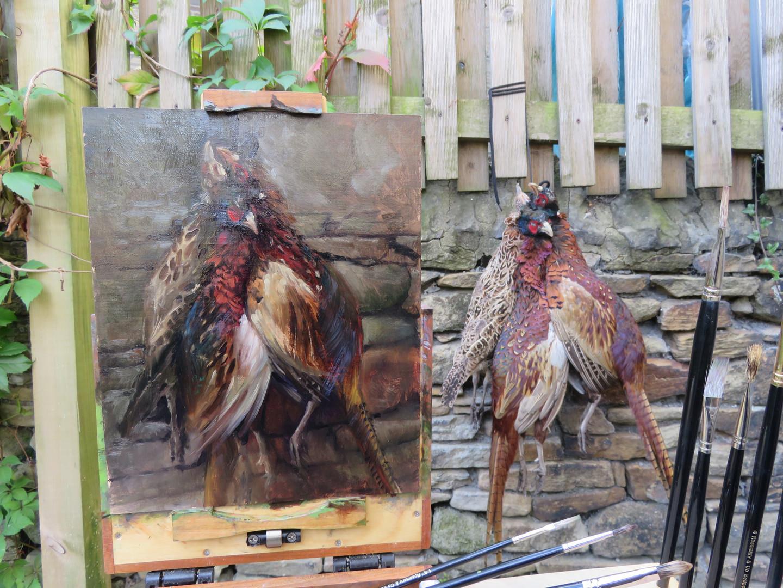 Jan Jewell Painting Pheasants, Easier Sa
